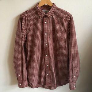 Jack Spade Autumn Plaid Long Sleeve Shirt Large